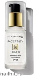 Max Factor Праймер для лица Facefiniti All Day Primer,  тон прозрачный