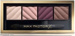 "Max Factor Тени для век и пудра для бровей (2в1) 4-цветные ""Smokey Eye MATTE Drama Kit"", тон 20 rich roses"