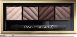 """Max Factor Тени для век и пудра для бровей (2в1) 4-цветные """"Smokey Eye MATTE Drama Kit"""", тон 30 smokey onyx"""