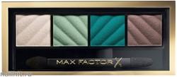 "Max Factor Тени для век и пудра для бровей (2в1) 4-цветные ""Smokey Eye MATTE Drama Kit"", тон 40 hypnotic jade"