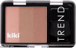 60019 KiKi Румяна тройные TREND 601 розовый, бежево-коричневый, коричневато-розовый