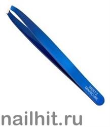 236 Mertz Пинцет 227-D  голубой, диагональный