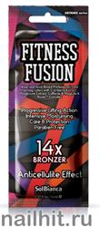 12067 SolBianca Крем для загара 15мл 8801 Fitness Fusion 14х bronzer (экстракт клюквы, зверобоя, кофеин)