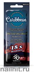 12073 SolBianca Крем для загара 15мл 8829 Caribbean  18х bronzer (масло кокоса, экстракты ягод черники и хлопка)