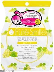 018469 SunSmile Yougurt Маска тканевая для лица на Йогуртовой основе с Виноградом 1шт антивозрастная