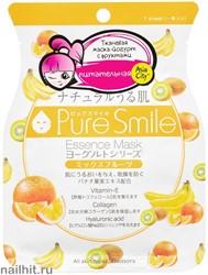 018483 SunSmile Yougurt Маска тканевая для лица на Йогуртовой основе с Фруктами 1шт питательная