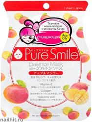 018452 SunSmile Yougurt Маска тканевая для лица на Йогуртовой основе с Яблоком и Манго 1шт очищающая
