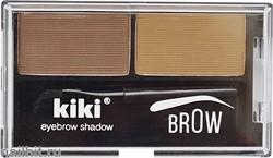 10014 KiKi Тени двойные для бровей, тон 01 коричневый+ светло- коричневый