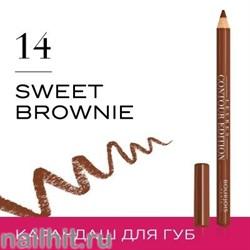 "Bourjois Карандаш для ГУБ ""Levres Contour "" тон 14 sweet Brown-ie"