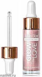 064517 Alvin D'or Хайлайтер жидкий GLOW in LOVE тон 03 розовый HL-03