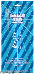 """13681 Dolce Tan Крем для загара 15мл 1002 DT """"Mojito"""" с маслом кокоса, экстрактом мяты, алоэ и протеины (для быстрого загара)"""