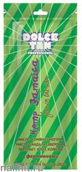 """13687 Dolce Tan Крем для загара 15мл 1009 DT """"Hemp Jamaica"""" с маслом семян конопли, масло сандала, зверобоя, и экстрактом алоэ, кофеин, с феромонами (для загара в солярии)"""