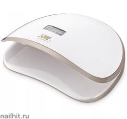 13945 SML S8 Лампа для ногтей LED/UV (68Вт, 39 светодиодов LG) Luxury gold base white cover