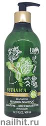 001202 Bio World Botanica Шампунь- восстановление для волос Черный тмин, бесцветная хна 490мл
