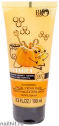 001578 Bio World Botanica Крем- маска для лица питательная Тыква, мед, куркума 100мл