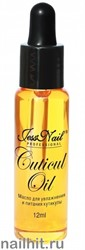 14292 JessNail Масло для кутикулы, увлажнение и питание 12мл Ваниль
