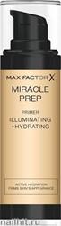 Max Factor Праймер для лица Miracle Prep Illuminating+ Hydrating 30мл, прозрачный