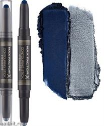 "Max Factor Тени для век ""Сontouring Stick Eyeshadow"" двусторонние, тон 003 midnight blue silver storn"