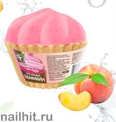 231748 Bliss Organic Шар бурлящий для ванн маффин Персиковый 130гр