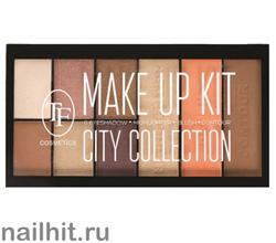 07564 Триумф TF Набор для макияжа №201 CITY COLLECTION тени+ румяна+ хайлайтер+ пудра