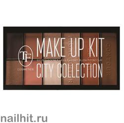 07687 Триумф TF Набор для макияжа №203 CITY COLLECTION тени+ румяна+ хайлайтер+ пудра
