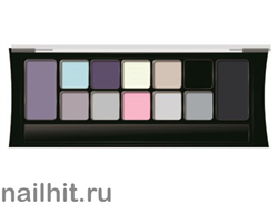 05973 Триумф TF Набор теней 12цветов NUDE Palette Eyeshadow тон 03 серо- розово- черно- желтая гамма
