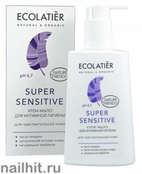 171531 Ecolab Ecolatier Inspirat Мыло-крем для интимной гигиены Super Sensitive для чувств. кожи 250мл