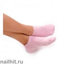 11284 JessNail Увлажняющие гелевые носочки (силиконовые) розовые