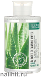 15645 Jigott Вода очищающая 0320 с экстрактом алоэ Aloe Deep Cleansing Water 530мл