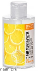 15647 Jigott Вода очищающая 0377 экстрактом лимона Deep Cleansing Water Lemon 530мл