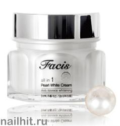 15652 Jigott Крем 1340 с жемчужной пудрой Facis All-in-one Pearl Whitening Cream 100гр