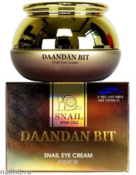 15604 Jigott Крем 1469 Питательный крем для лица с муцином улитки Daandan Bit Snail Cream Premium 50гр