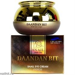15605 Jigott Крем для глаз 1483 Питательный крем вокруг глаз с муцином улитки 50гр Daandan Bit Snail Eye Cream