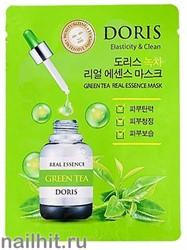 15641 Jigott Маска тканевая 0597 ампульная с зеленым чаем 25мл Doris Green tea Real Essence