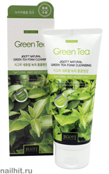 7037 Jigott Пенка для умывания 1094 С экстрактом зеленого чая 180мл Natural Green Tea Foam Cleansing