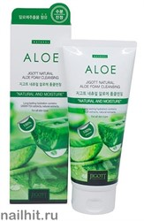 7038 Jigott Пенка для умывания 1100 С алоэ 180мл Natural Aloe Foam Cleansing