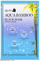 15675 Mijin Маска тканевая для лица 4342 черный бамбук, увлажняющая и подтягивающая