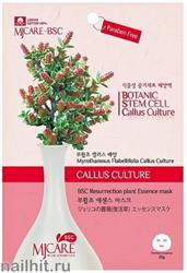 15669 Mijin Маска тканевая для лица 5400 с растительными стволовыми клетками миротамнуса