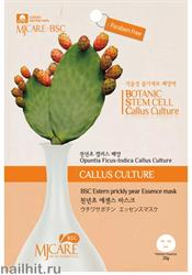 15672 Mijin Маска тканевая для лица 5431 с растительными стволовыми клетками опунции