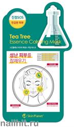 15721 Mijin Маска тканевая для лица 7602 масло чайного дерева, помогает справиться с существующими акне