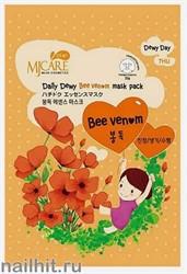 11442 Mijin Маска тканевая для лица с пчелиным ядом 25гр активно лечит кожу, делая ее чистой и здоровой