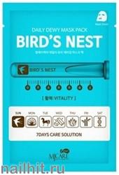 13604 Mijin Маска тканевая для лица с птичьим гнездом 25гр омолаживающая