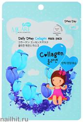 15667 Mijin Маска тканевая для лица с коллагеном 25гр поддержание эластичности и упругости кожи