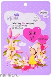 11438 Mijin Маска тканевая для лица с аминокислотами шелка 25гр упругая и сияющая кожа
