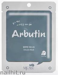 13600 Mijin Маска тканевая для лица с арбутином 22гр придает коже ровный сияющий тон