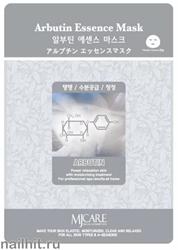 11446 Mijin Маска тканевая для лица с арбутином 23гр способствует уменьшению пигментации