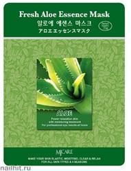 13592 Mijin Маска тканевая для лица с алоэ 23гр увлажняющая и успокаивающая