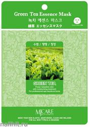 13593 Mijin Маска тканевая для лица с экстрактом зеленого чая 23гр успокаивающая