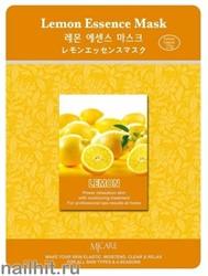 11456 Mijin Маска тканевая для лица с экстрактом лимона 23гр осветляющая