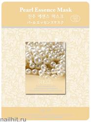 11450 Mijin Маска тканевая для лица с экстрактом жемчуга 23гр осветляющая